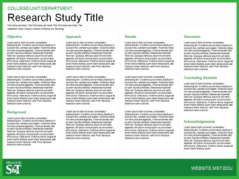 Research Poster - Traditional