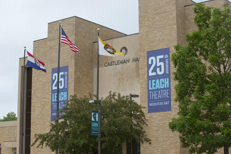 Leach Theatre 25th anniversary building banners