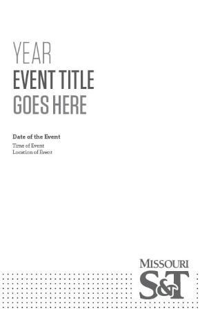 Event booklet - B&W