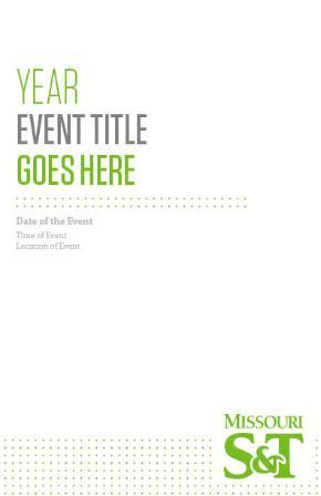 Event booklet - color